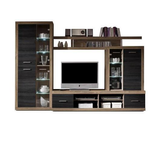 REGAL ZA DNEVNI BORAVAK - boje oraha, Design, drvni materijal (285/195/40cm) - Xora