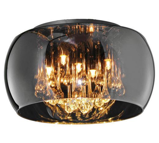 DECKENLEUCHTE - Chromfarben, LIFESTYLE, Glas/Metall (40,0/24,0cm)