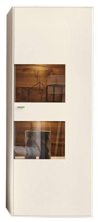 VITRÍNA - bílá/černá, Design, kov/dřevěný materiál (76/198/41cm) - MODERANO