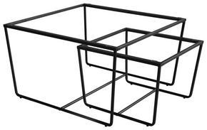 SATSBORD - svart, Design, metall (75/70/43/35/75/70cm)