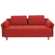 LIEGE in Textil Rot  - Rot, Design, Holz/Textil (220/98/96cm) - Joka