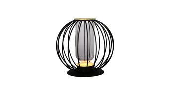 STOLNÍ LED LAMPA - černá/čiré, Trend, kov/sklo (26cm) - Novel