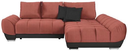 WOHNLANDSCHAFT in Textil Braun, Grau, Rosa - Braun/Rosa, MODERN, Textil/Metall (290/192/cm) - Carryhome