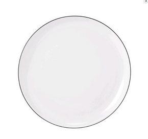 FRUKOSTTALLRIK - vit/svart, Klassisk, keramik (20cm) - Seltmann Weiden
