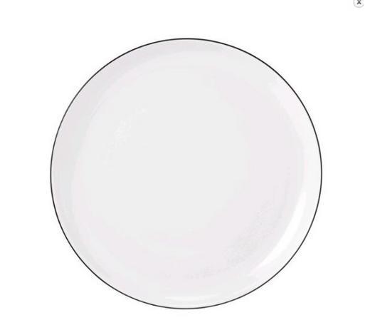 TALÍŘ NA SNÍDANI,  - bílá/černá, Konvenční, keramika (20cm) - Seltmann Weiden