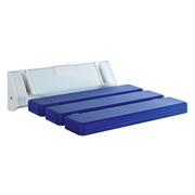 DUSCHHOCKER Metall, Kunststoff - Blau/Weiß, Basics, Kunststoff/Metall (32/23cm)