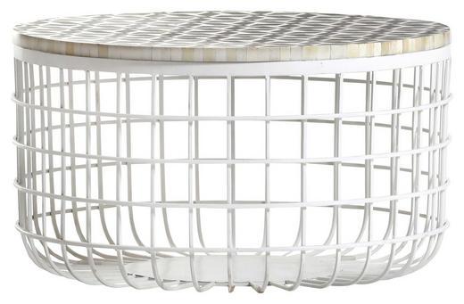 COUCHTISCH rund Weiß - Weiß, Design, Holzwerkstoff/Metall (60/35cm) - Carryhome