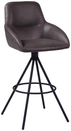 BARPALL - grå/svart, Design, metall/textil (50 104 53cm) - Novel