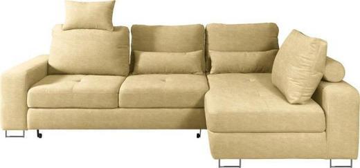 WOHNLANDSCHAFT in Textil Gelb - Gelb, Design, Textil/Metall (260/188/cm) - Hom`in