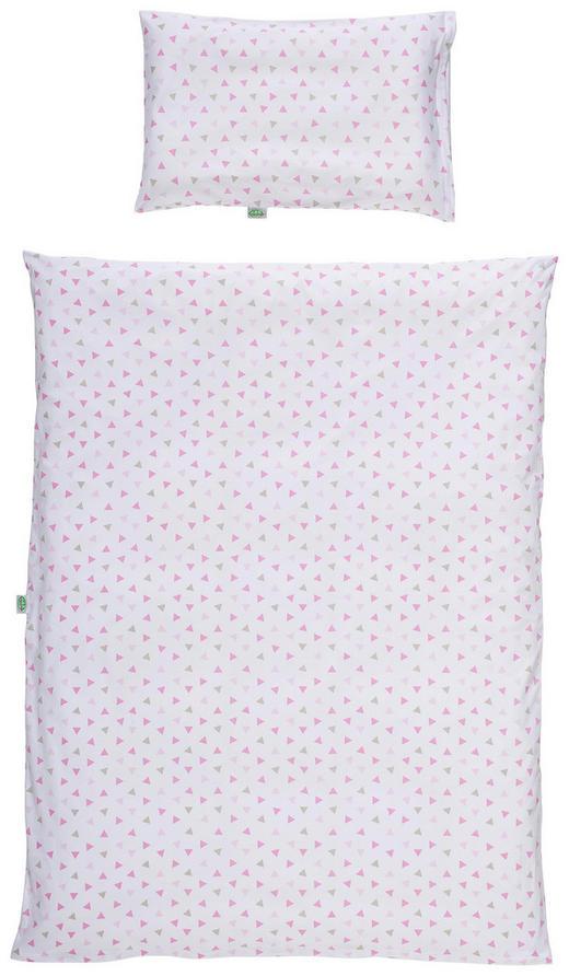 BABYBETTWÄSCHE - Pink/Weiß, Basics, Textil (100/135cm) - Odenwälder