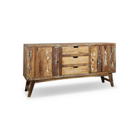 SIDEBOARD in massiv Recyclingholz Multicolor - Multicolor, LIFESTYLE, Holz/Metall (160/85/40cm) - LANDSCAPE