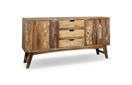 SIDEBOARD Recyclingholz massiv lackiert Multicolor - Multicolor, LIFESTYLE, Holz/Metall (160/85/40cm) - Landscape