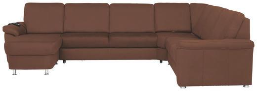 WOHNLANDSCHAFT - Chromfarben/Braun, KONVENTIONELL, Textil/Metall (163/330/240cm) - Beldomo System