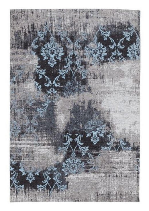 FLACHWEBETEPPICH   Blau, Grau - Blau/Grau, Basics, Textil (70qcm) - Novel
