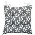 Sitzkissen Sandra - Anthrazit, MODERN, Textil (40/40cm) - Luca Bessoni