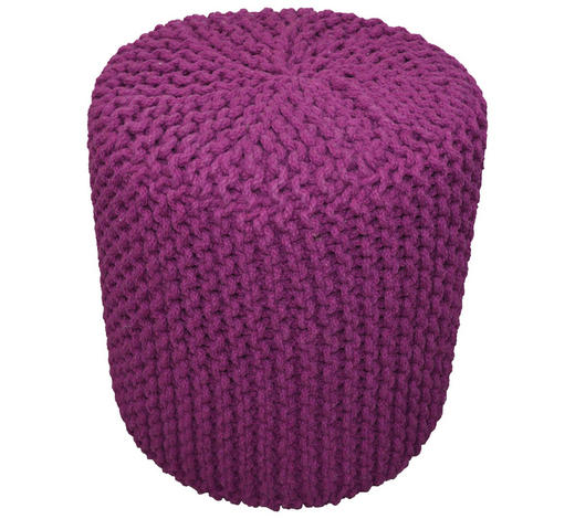 POUF in Textil  - Lila, Trend, Textil (44/44cm) - Carryhome