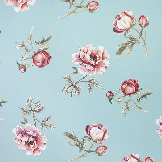 DEKOSTOFF per lfm Verdunkelung - Blau/Hellrot, Trend, Textil (140  cm) - Esposa
