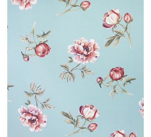 DEKOSTOFF per lfm Verdunkelung  - Blau/Hellrot, Trend, Textil (140cm) - Esposa