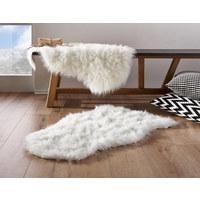 KUNSTFELL  60/90 cm  Weiß   - Weiß, KONVENTIONELL, Textil (60/90cm) - Boxxx