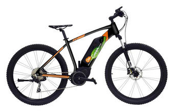 E-Mountainbike - Schwarz/Orange, Trend, Metall (184/66/107cm)