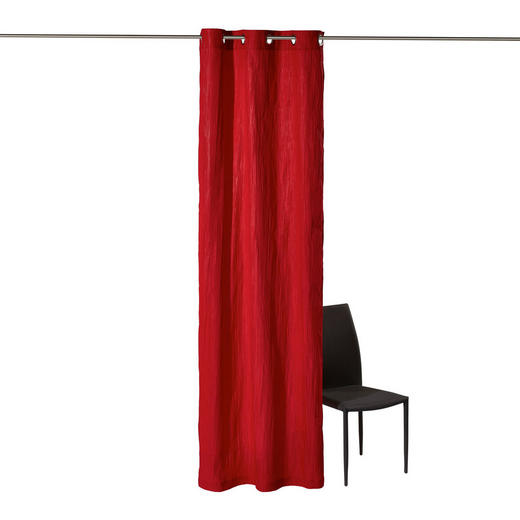 ÖSENSCHAL  blickdicht  135/245 cm - Rot, KONVENTIONELL, Textil (135/245cm) - Esposa