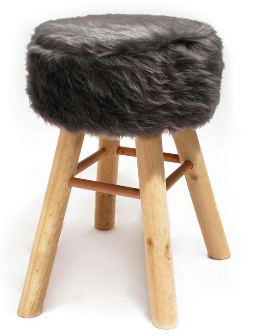 Barhocker Kiefer Grau - Grau, Holz (33/70cm)