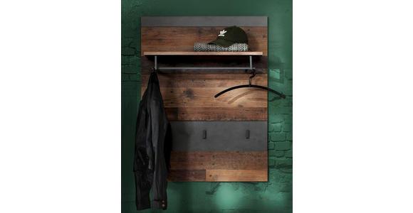GARDEROBENPANEEL 80/106/28 cm  - Graphitfarben/Pinienfarben, Trend, Holzwerkstoff (80/106/28cm) - Xora