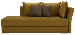 LIEGE in Textil Gelb - Chromfarben/Gelb, Design, Kunststoff/Textil (220/93/100cm) - Xora