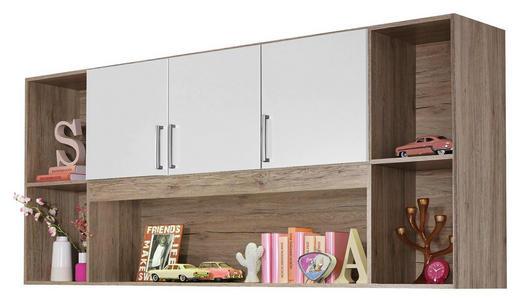 REGAL Eichefarben, Weiß - Eichefarben/Silberfarben, Design, Kunststoff (212/93/38cm) - Carryhome