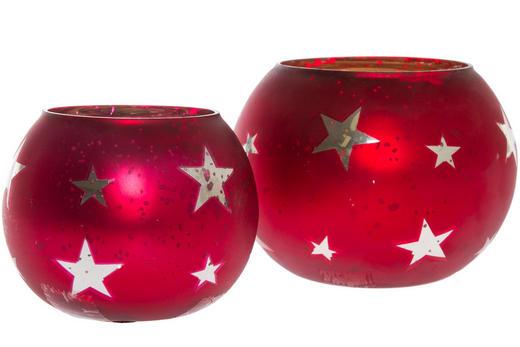 TEELICHTHALTER-SET 4-teilig - Rot, Glas