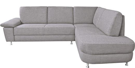 WOHNLANDSCHAFT - Alufarben/Grau, Design, Textil/Metall (262/212cm) - Venda