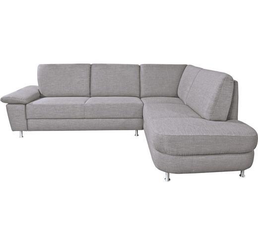 WOHNLANDSCHAFT Grau  - Alufarben/Grau, Design, Textil/Metall (262/212cm) - Venda