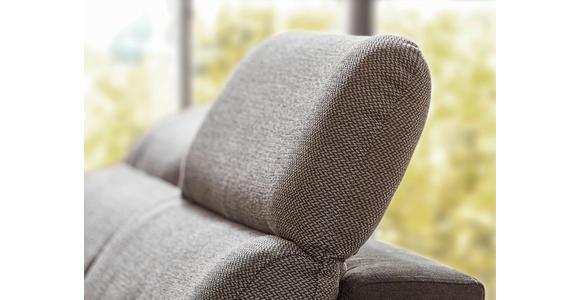 WOHNLANDSCHAFT Grau, Dunkelgrau Webstoff  - Dunkelgrau/Silberfarben, Design, Kunststoff/Textil (187/365/263cm) - Cantus
