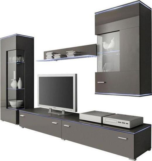 WOHNWAND Grau - Silberfarben/Grau, Design, Glas/Kunststoff (230/148/42cm) - Carryhome