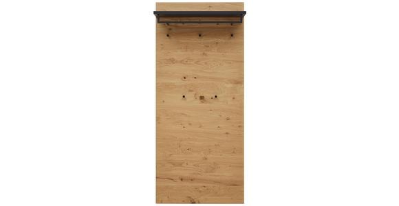 GARDEROBENPANEEL 80/183/27 cm  - Eichefarben/Anthrazit, Design, Holz (80/183/27cm) - Dieter Knoll
