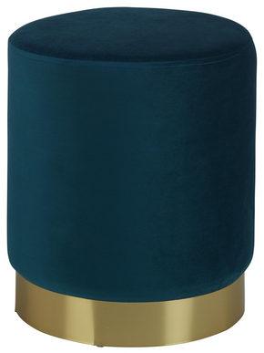 PALL - petrol/guldfärgad, Trend, metall/träbaserade material (35/40/35cm) - Xora