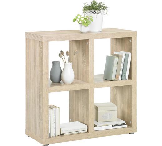 DĚLICÍ STĚNA, barvy dubu - barvy dubu/barvy hliníku, Design, kompozitní dřevo/umělá hmota (83/85/35cm)