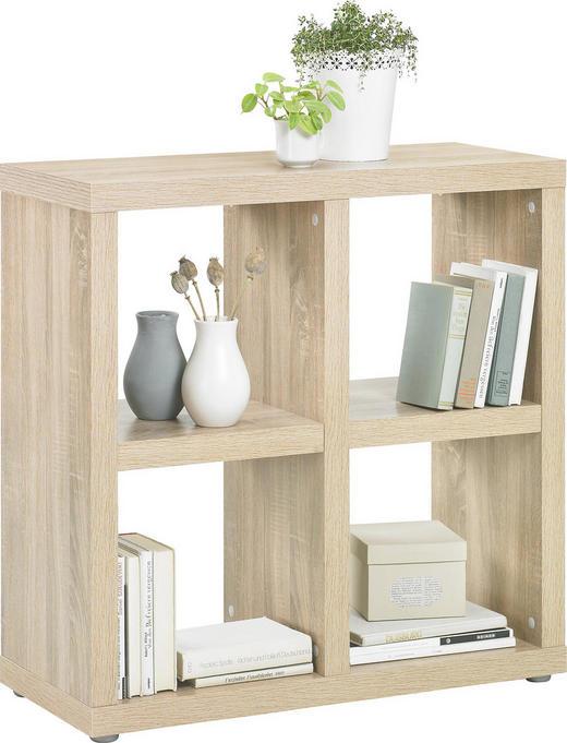 RAUMTEILER in Eichefarben - Eichefarben/Alufarben, Design, Holzwerkstoff/Kunststoff (83 85 35cm)