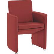 STUHL in Leder Dunkelrot - Dunkelrot, Design, Leder/Kunststoff (62/87/59cm) - Chilliano
