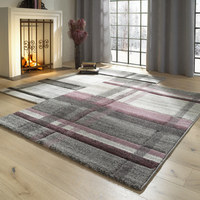 VÄVD MATTA - beige/gammelrosa, Klassisk, ytterligare naturmaterial/textil (120/170cm) - NOVEL