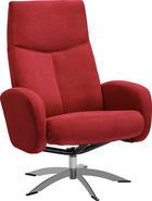 RELAXAČNÍ KŘESLO - barvy chromu/červená, Design, kov/textil (71/104/72cm) - WELNOVA