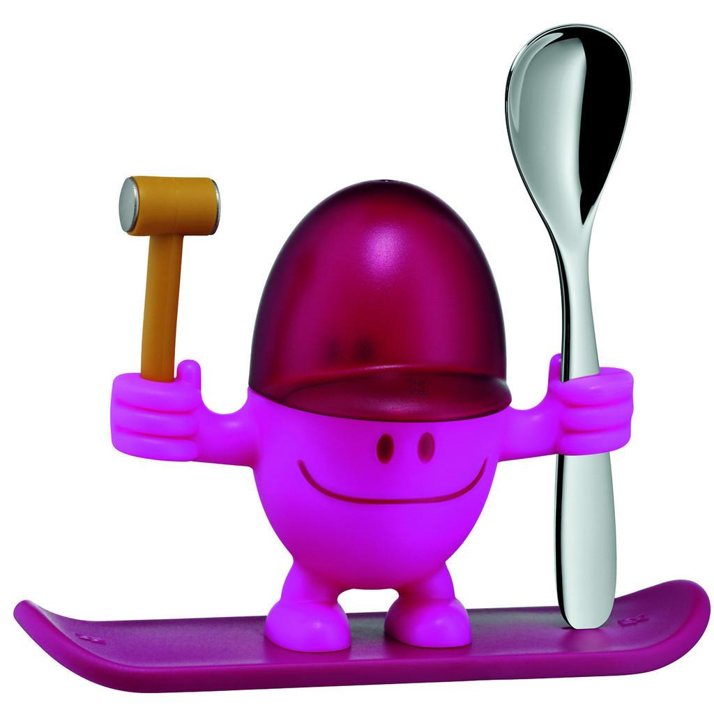 Eierbechermänchen mit Hammer und Eierlöffel