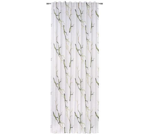 FERTIGVORHANG  halbtransparent  140/245 cm   - Grün, KONVENTIONELL, Textil (140/245cm) - Esposa
