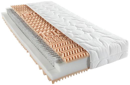 TASCHENFEDERKERNMATRATZE 90/190/ cm - Weiß, Basics, Textil (90/190/cm) - Sleeptex