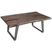 COUCHTISCH in Schwarz, Silberfarben - Silberfarben/Schwarz, Design, Holz/Metall (115/70/45cm) - Carryhome