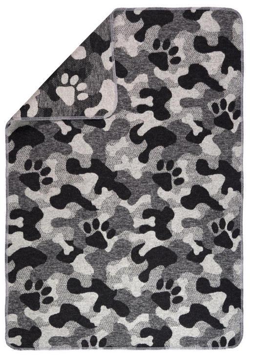 KUSCHELDECKE - Grau, KONVENTIONELL, Textil (70/90/cm) - David Fussenegger