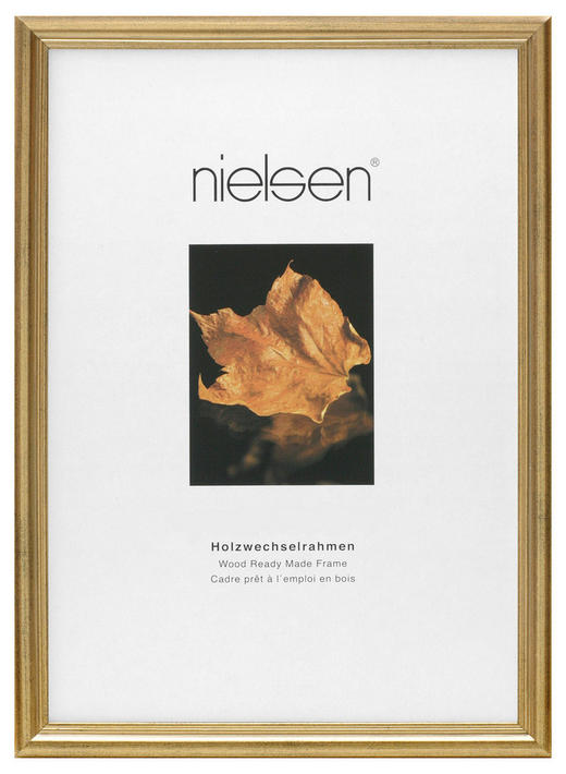 BILDERRAHMEN 13X18CM in Goldfarben - Goldfarben, Basics, Holz (13/18cm) - Nielsen