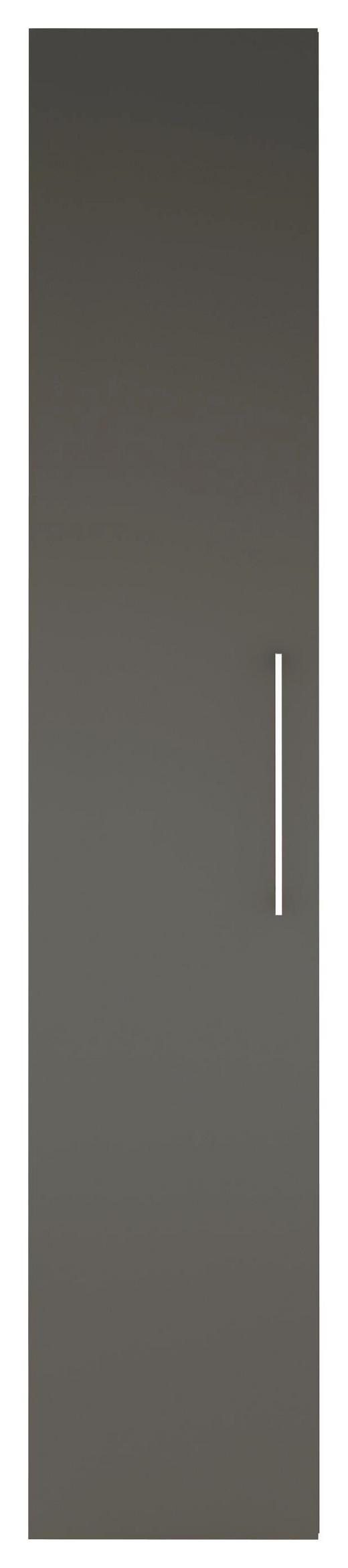 DREHTÜRENSCHRANK 1  -türig Grau, Weiß - Chromfarben/Weiß, Design, Holzwerkstoff/Metall (40/208/57cm) - CARRYHOME