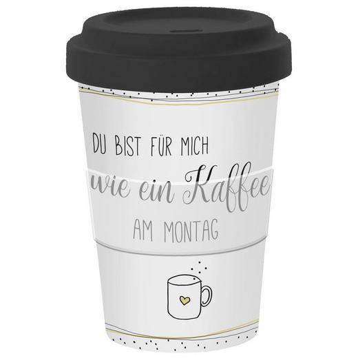 COFFEE-TO-GO-BECHER 0,35 l - Multicolor, KONVENTIONELL, Keramik/Kunststoff (9/13,5cm)
