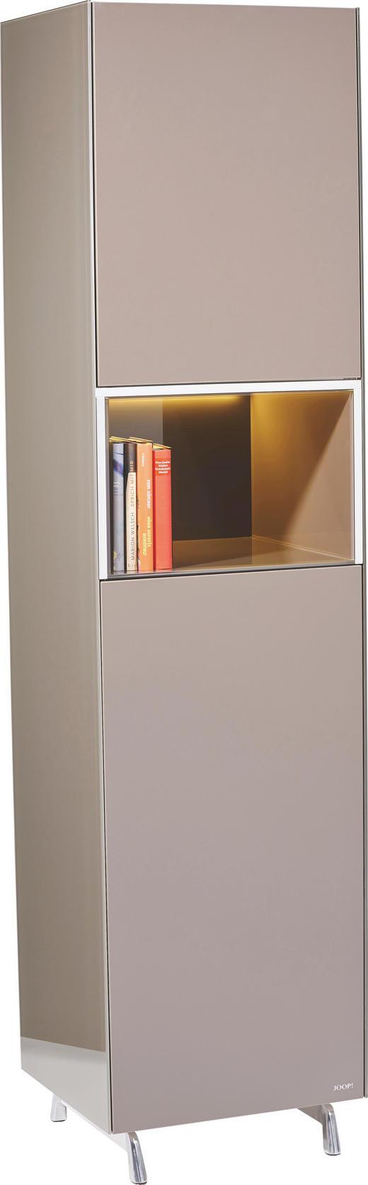 VITRINE Braun - Alufarben/Braun, Design, Glas/Holzwerkstoff (52/209/46cm) - Joop!